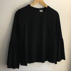 Black Wilfred Bell Sleeve Blouse